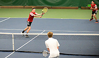 Sauk Prairie's Noah Wankerl (left) and Kelby Mack win #1 Doubles 6-2, 6-2, during the Badger Conference Wisconsin boys high school tennis tournament on Saturday, May 18, 2019 at Nielsen Tennis Stadium in Madison, Wisconsin
