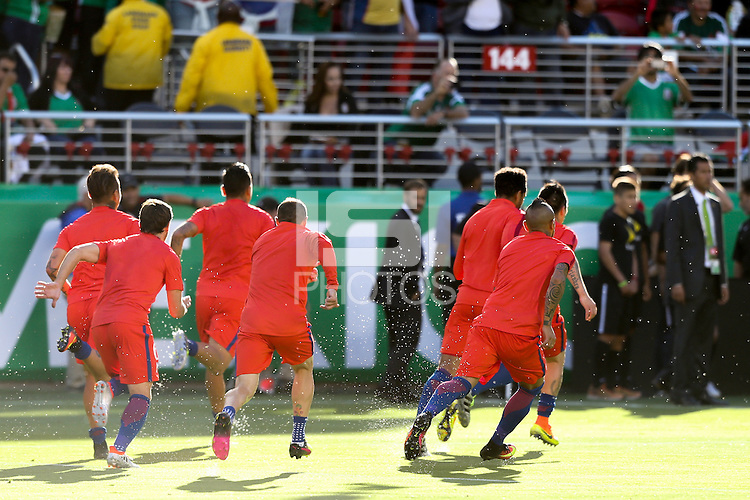 Santa Clara, CA - Saturday June 18, 2016: Chile  during a Copa America Centenario quarterfinal match between Mexico (MEX) and Chile (CHI) at Levi's Stadium.