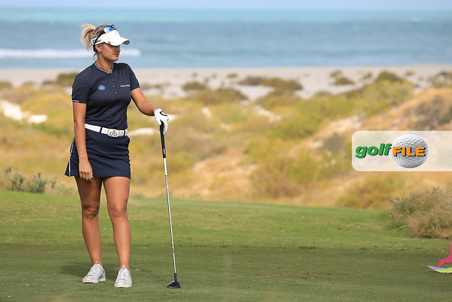 Amy Boulden (WAL) during the second round of the Fatima Bint Mubarak Ladies Open played at Saadiyat Beach Golf Club, Abu Dhabi, UAE. 11/01/2019<br /> Picture: Golffile | Phil Inglis<br /> <br /> All photo usage must carry mandatory copyright credit (© Golffile | Phil Inglis)
