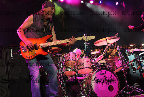 Deep Purple - bass player Roger Glover - Performing Live On Stage At The O2 Arena in London, UK - 30 Nov 2011.  Photo credit: Ben Rector/IconicPix