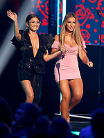 NASHVILLE, TN - JUNE 5: (L-R) Sarah Hyland and Jessie James Decker appear on the 2019 CMT Music Awards at Bridgestone Arena on June 5, 2019 in Nashville, Tennessee. (Photo by Frederick Breedon/PictureGroup)
