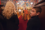 Rev. Stephen Tumbas spreads the scent of incense during Christmas Eve Vigil Service, St. Sava Serbian Orthodox Church, Jackson, Calif.