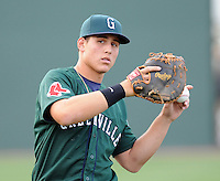 April 2, 2008: Infielder Anthony Rizzo (7) of the Greenville Drive, Class A affiliate of the Boston Red Sox, during Media Day at Fluor Field at the West End in Greenville, S.C. Photo by:  Tom Priddy/Four Seam Images