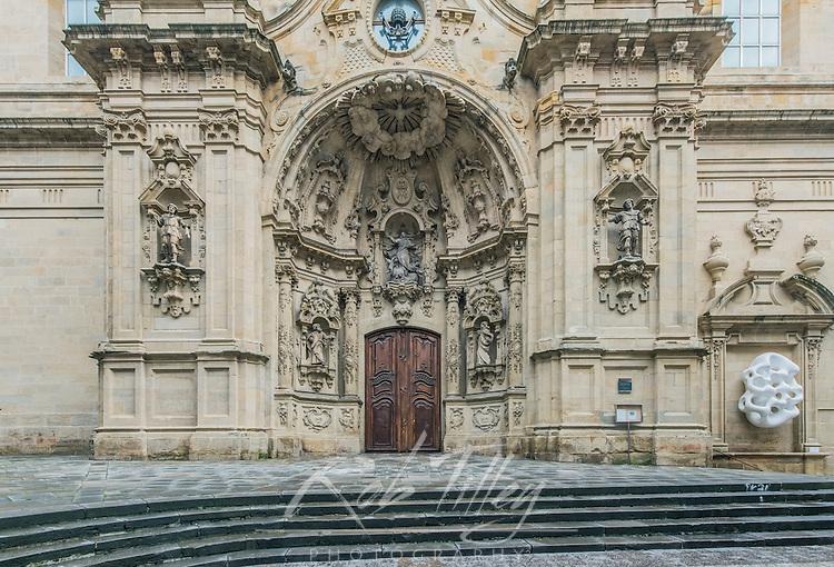 Spain, San Sebastian, Basilica of Saint Mary of the Chorus (Basílica de Nuestra Señora del Coro) completed in 1774