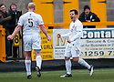 Ayr Utd's Liam Buchanan (10) celebrates after he scores Ayr's first goal.