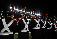 The Ohio State Marching Band lines the sideline prior to the NCAA football game against the Penn State Nittany Lions at Ohio Stadium in Columbus on Oct. 17, 2015. (Adam Cairns / The Columbus Dispatch)