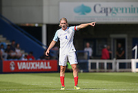 Goalscorer Tom Davies of England during the International match between England U19 and Netherlands U19 at New Bucks Head, Telford, England on 1 September 2016. Photo by Andy Rowland.
