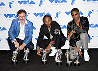 Dave Meyers, Kendrick Lamar &amp; Dave Free in the press room for the 2017 MTV Video Music Awards at The &quot;Fabulous&quot; Forum, Los Angeles, USA 27 Aug. 2017<br /> Picture: Paul Smith/Featureflash/SilverHub 0208 004 5359 sales@silverhubmedia.com