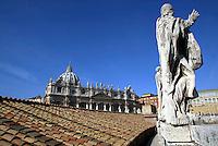 The Saint Peter Basilica. Una veduta della Basilica di San Pietro