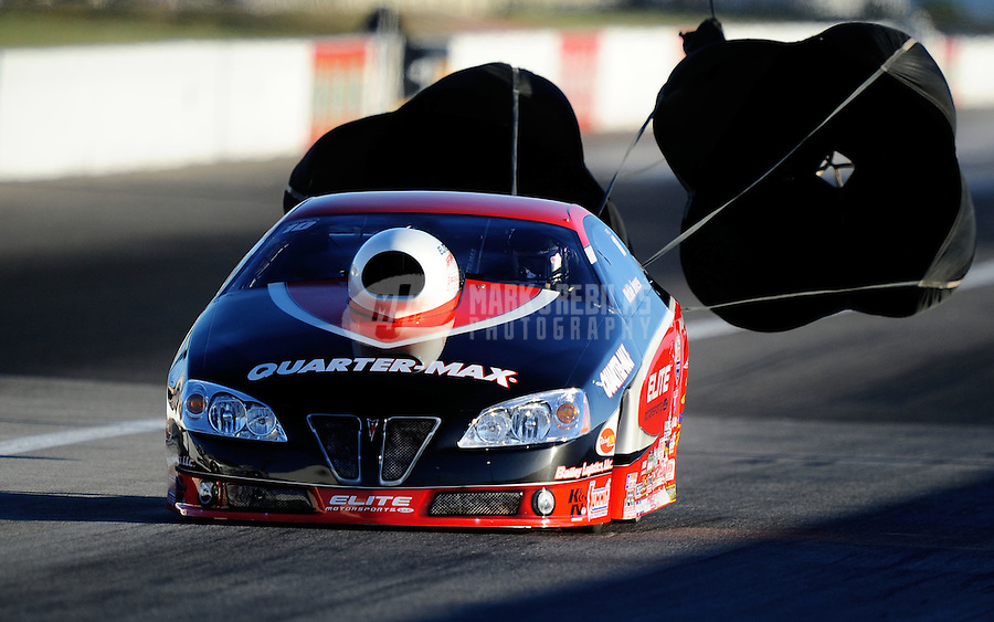 Sept. 4, 2010; Clermont, IN, USA; NHRA pro stock driver Rickie Jones during qualifying for the U.S. Nationals at O'Reilly Raceway Park at Indianapolis. Mandatory Credit: Mark J. Rebilas-
