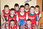 The Ballybunion team at the under 13 Boys Basketball Community Games in Castleisland last Sunday morning. Front l-r: Jamie Julian and Peter McMahon. Middle row l-r: Ian Mannix, Colm Beasley and Eoghan Holly. Back row l-r: Blake Hornyak, Shane Hanrahan, Alan Ho and Kane Hornyak..
