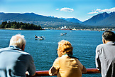 CANADA, Vancouver BC, individuals watching float planes land in port, Holland America cruise ship, the Oosterdam, British Columbia