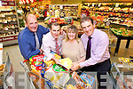 Theresa Browne - winner of the ?1,000 shopping giveaway prize from Garvey's Supervalu and Kerry's Eye Newspaper being presented with her prize on Tuesday, from left: Brendan Kennelly (Sales Director Kerry's Eye), Paul O'Connor (Manager Garvey's Listowel), Theresa Brown (Listowel) and Kevin McCarthy (Garveys).