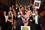 Members of Avonmore Musical Society, County Wicklow celebrate withn their national president Colm Moules at the Association of Irish Musical Societies (AIMS) annual awards in the INEC, Killarney at the weekend. <br /> Photo Don MacMonagle<br /> <br /> repro free photo AIMS<br /> Further info: Kate Furlong PRO kate.furlong84@gmail.com