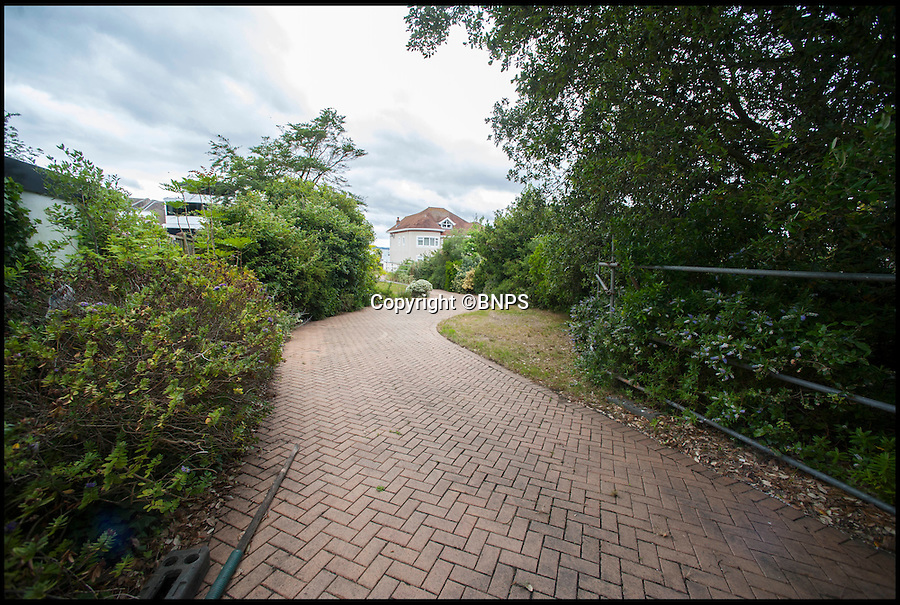 BNPS.co.uk (01202 558833)<br /> Pic: TomWren/BNPS<br /> <br /> The driveway.<br /> <br /> This empty plot of land has gone on the market for a staggering £3.5 million because it is situated NEAR the exclusive address of Sandbanks.<br /> <br /> The narrow parcel of land has nothing on it apart from some overgrown grass, the footings of an old house and a shabby-looking driveway.<br /> <br /> But looking at the property from another point of view reveals why it can command such a hefty asking price as it boasts some of the finest seaside views in the country.