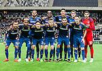 Stockholm 2015-02-16 Fotboll Tr&auml;ningsmatch Hammarby IF - LA Galaxy :  <br /> La Galaxys startelva med Stefan Ishizaki (trea fr v&auml;nster fr&auml;mre raden) , Baggio Husidic ((tv&aring;a fr h&ouml;ger fr&auml;mre raden) och Robbie Keane (l&auml;ngst till h&ouml;ger fr&auml;mre raden) inf&ouml;r matchen mellan Hammarby IF och LA Galaxy <br /> (Foto: Kenta J&ouml;nsson) Nyckelord:  Fotboll Tr&auml;ningsmatch Tele2 Arena Hammarby HIF Bajen Los Angeles LA Galaxy