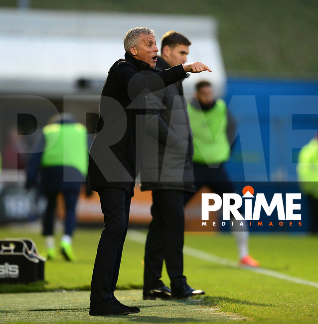 Keith Curle of Northampton during the Sky Bet League 2 match between Northampton Town and Grimsby Town at Sixfields Stadium, Northampton, England on 24 November 2018. Photo by Bradley Collyer / PRiME Media Images.