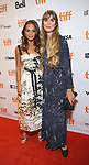 Alicia Vikander and Lisa Langseth attend the 'Euphoria' premiere during the 2017 Toronto International Film Festival at Winter Garden Theatre on September 11, 2017 in Toronto, Canada.
