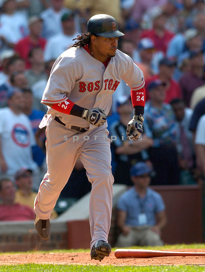 Manny Ramirez during the Boston Red Sox v. Chicago Cubs game on June 10, 1005..Cubs win 14-6..David Durochik / SportPics