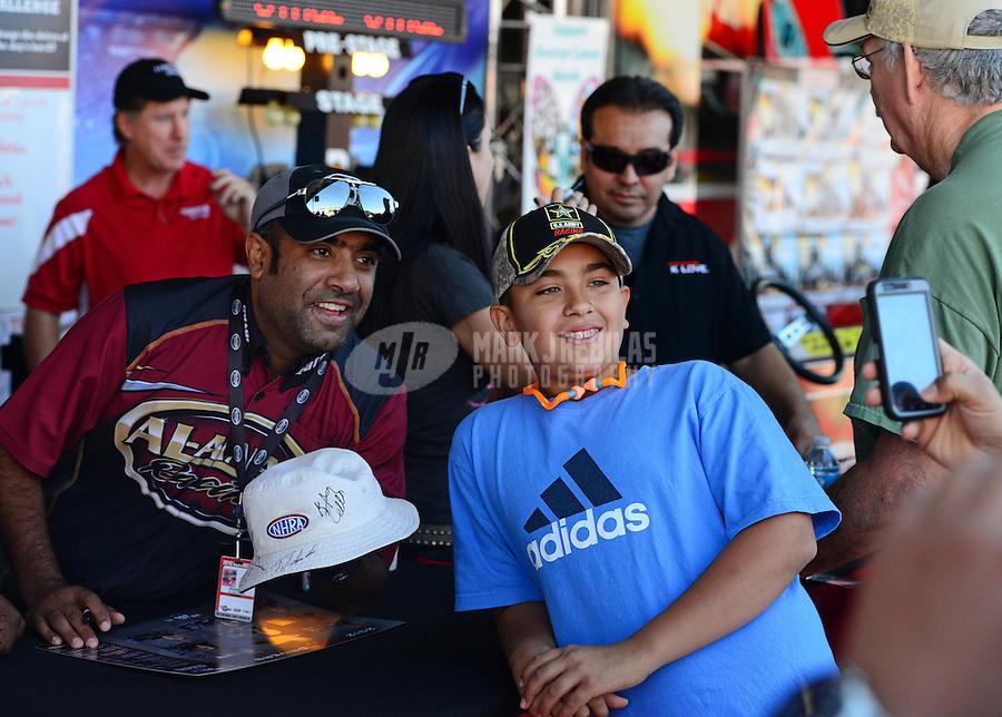 26-28 October, 2012, Las Vegas, Nevada USA, Khalid Albalooshi, Al-Anabi Racing, pit pass, fans @2012, Mark J. Rebilas