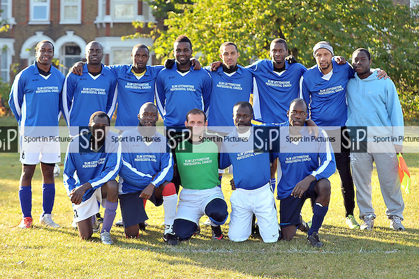 E L T FC Vs Blackhorse Road FC. North East London and Essex Churches Football League. Wanstead Flats. London. 22/10/2011. MANDATORY Credit Sportinpictures/Garry Bowden - NO UNAUTHORISED USE - 07837 394578