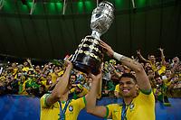Rio de Janeiro (RJ), 07/07/2019 - Copa América / Final / Brasil x Peru -  Thiago Silva do  Brasil comemora título da Copa América no Estádio do Maracanã no Rio de Janeiro neste domingo, 07.  (Foto: Clever Felix/Brazil Photo Press)