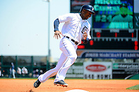Detroit Tigers outfielder Austin Jackson #14 during a Spring Training game against the Tampa Bay Rays at Joker Marchant Stadium on March 29, 2013 in Lakeland, Florida.  (Mike Janes/Four Seam Images)