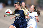 15 September 2013: Notre Dame's Sammy Scofield (11) and North Carolina's Paige Nelsen (24). The University of North Carolina Tar Heels hosted the University of Notre Dame Fighting Irish at Fetzer Field in Chapel Hill, NC in a 2013 NCAA Division I Women's Soccer match. Notre Dame won the game 1-0.