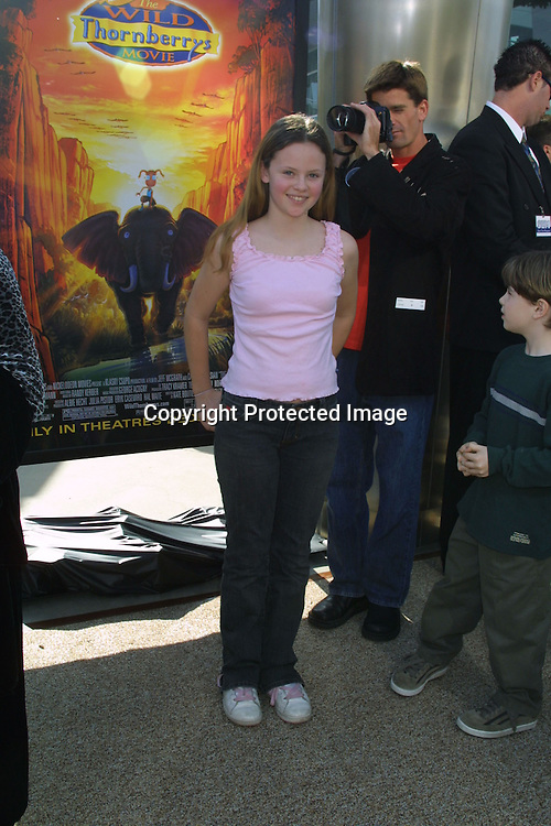©2002 KATHY HUTCHINS / HUTCHINS PHOTO.WILD THORNBERRY PREMIERE.HOLLYWOOD  CA..DECEMBER 8 2002..SARAH RAMOS.
