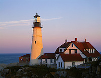 Cumberland County, ME<br /> Portland Head Lighthouse (1791) stands on the rocky cliffs of Cape Elizabeth on casco Bay.  Maine's oldest lighthouse