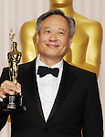 HOLLYWOOD, CA - FEBRUARY 24: Ang Lee poses in the press room the 85th Annual Academy Awards at Dolby Theatre on February 24, 2013 in Hollywood, California.