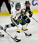 30 November 2009: University of Vermont Catamount forward Jack Downing, a Junior from New Canaan, CT, in action against the Yale University Bulldogs at Gutterson Fieldhouse in Burlington, Vermont. The Catamounts shut out the Bulldogs 1-0 in a rematch of last season's first round of the NCAA post-season playoff Tournament. Mandatory Credit: Ed Wolfstein Photo