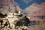 COUPLE PERCH PRECARIOUSLY on LEDGE at the GRAND CANYON<br /> (14)