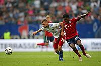 15.08.2018, Football  2018/2019, pre season friendly, Hamburger SV - FC Bayern Muenchen, Volksparkstadium Hamburg.  Manuel Wintzheimer (Hamburg)  -  and Derrick Koehn (Bayern Muenchen) *** Local Caption *** © pixathlon