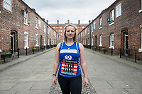 A portrait of Great Manchester Run participant Ellen Talbot pictured in Ancoats, Manchester on Tuesday 1st May 2018.