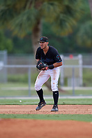 GCL Marlins third baseman Zachary Owings (20) during a Gulf Coast League game against the GCL Astros on August 8, 2019 at the Roger Dean Chevrolet Stadium Complex in Jupiter, Florida.  GCL Marlins defeated GCL Astros 5-4.  (Mike Janes/Four Seam Images)
