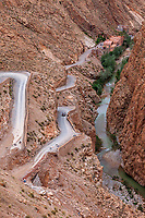 Dades Gorge, Morocco.  Road Washed out after Heavy Rain.