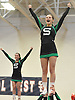 Jordan Gilbert and the Seaford varsity cheerleaders perform during an invitational competition held at Smithtown High School West on Saturday, Dec. 17, 2016.