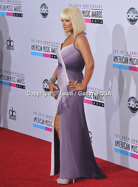 Christina Aguilera  at 40th American Music Awards 2012 at the Nokia Theatre In Los Angeles.