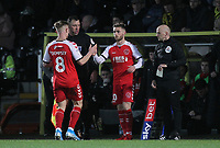 Fleetwood Town's Conor McAleny replaces  Kyle Dempsey <br /> <br /> Photographer Mick Walker/CameraSport<br /> <br /> The EFL Sky Bet League One - Burton Albion v Fleetwood Town - Saturday 11th January 2020 - Pirelli Stadium - Burton upon Trent<br /> <br /> World Copyright © 2020 CameraSport. All rights reserved. 43 Linden Ave. Countesthorpe. Leicester. England. LE8 5PG - Tel: +44 (0) 116 277 4147 - admin@camerasport.com - www.camerasport.com