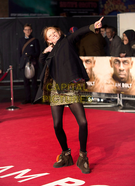 LONDON, ENGLAND - NOVEMBER 28: Olivia Inge attends the World Premiere of 'I Am Bolt' at Odeon Leicester Square on November 28, 2016 in London, England..<br /> CAP/PP/GM<br /> &copy;GM/PP/Capital Pictures