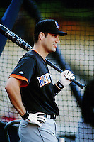Robin Ventura of the New York Mets during a game against the Los Angeles Dodgers at Dodger Stadium circa 1999 in Los Angeles, California. (Larry Goren/Four Seam Images)