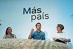 Mireia Molla, Ines Sabanes in the presentation of the Mas Pais program with Iñigo Errejon<br /> October 11, 2019. <br /> (ALTERPHOTOS/David Jar)