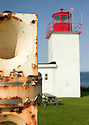 Years of harsh exposure have taken their toll on the foghorn at the Cape D'Or lighthouse on Nova Scotia's north western shore.