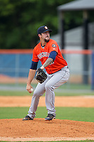 Greeneville Astros relief pitcher Brandon Culbreth (41) in action against the Kingsport Mets at Hunter Wright Stadium on July 7, 2015 in Kingsport, Tennessee.  The Mets defeated the Astros 6-4. (Brian Westerholt/Four Seam Images)