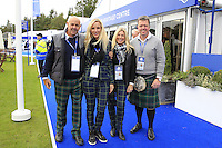 Fans in the tented village during Tartan Tuesday's Practice day of the Ryder Cup 2014 played on the PGA Centenary Course at the Gleneagles Hotel, Auchterarder, Scotland.: Picture Eoin Clarke, www.golffile.ie: 23rd September 2014