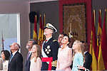 (L to R) Princess Leonor of Asturias, King Felipe VI, Queen Letizia of Spain and Infant Sofia during the Military parade because of the Spanish National Holiday. October 12, 2019.. (ALTERPHOTOS/ Francis Gonzalez)