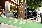 03.07.2019, Parkstadion, Zell am Ziller, AUT, TL Werder Bremen - Tag 00 Feature<br /> <br /> im Bild / picture shows <br /> <br /> Der Eingang des Mannschaftshotels ist bereit für die Ankunft der Spieler<br /> <br /> Foto © nordphoto / Kokenge