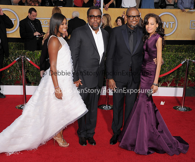 Clara Daniels, Lee Daniels, Forest Whitaker attends The 20th SAG Awards held at The Shrine Auditorium in Los Angeles, California on January 18,2014                                                                               © 2014 Hollywood Press Agency