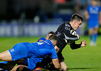 1st November 2019; RDS Arena, Dublin, Leinster, Ireland; Guinness Pro 14 Rugby, Leinster versus Dragons; Sam Davies of Dragons is tackled by Dave Kearney of Leinster - Editorial Use